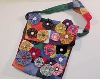 Yoyo fabric purse/bag