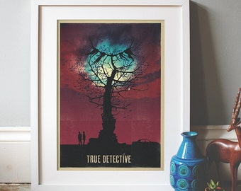 True Detective Inspired Full Colour A3 Print (3 colour options)