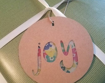 Peace, Love and Joy gift tags