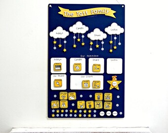 Reward Chart Family Chores Star System