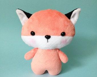 Fox plush toy - Kawaii plush toy - Baby fox toy  - Fox softie - Kawaii fox - fox plushie