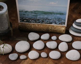 Small Stacking Stones - Rock Cairn - Relaxation Gift - Stress Relief - Baltic Sea Pebbles - Smooth Beach Stones