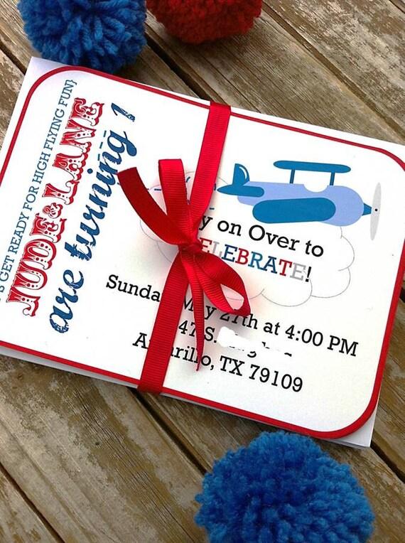 Printable Little Aviator Invitation Set for Airplane Themed