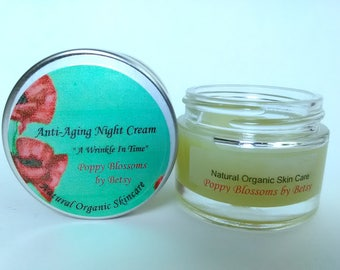 Organic Anti-Aging Night Cream with Rare Exotic Oils