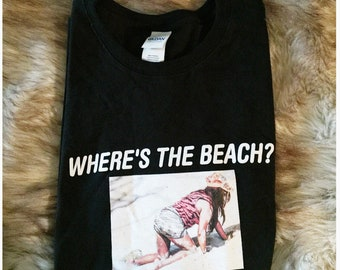 Snooki Shirt Jersey Shore Shirt LIMITED QUANTITIES Wheres The Beach Funny Graphic Tee