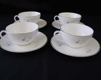Royal Doulton Thistledown Cup and Saucer set of 4