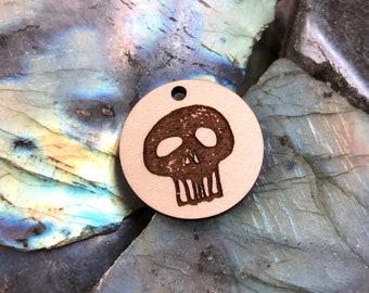 Skull Wooden Pendant/Charm