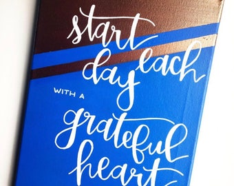 Calligraphy Inspirational Quote Hand Lettered Painting