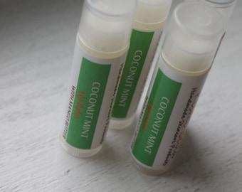 Coconut Mint Lip Balm - Beeswax/ Mango Butter Nourshing Lip Balm