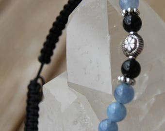 aquamarine Bead Bracelet Navy shamballa
