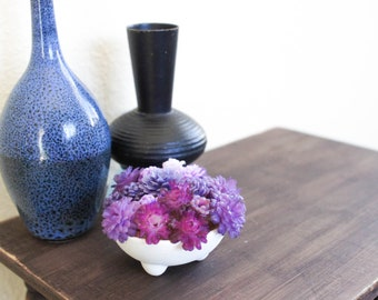Purple Succulent Arrangement in Standing Bowl