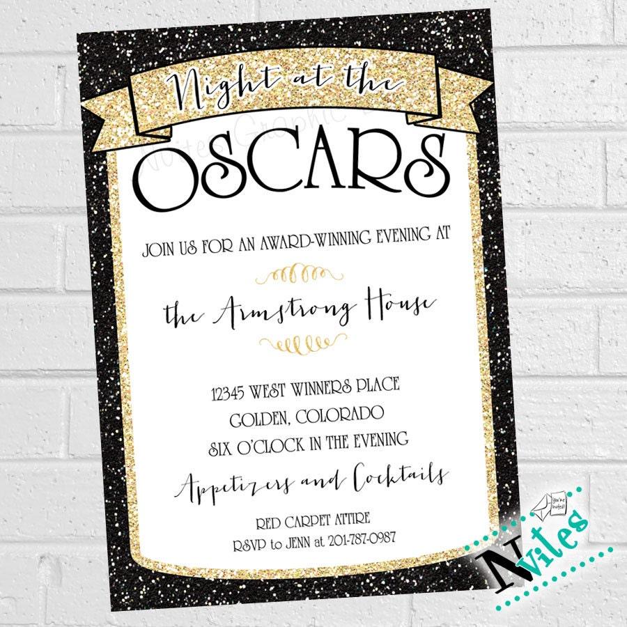 Oscar Party Invitation Academy Award Party Invite Movie
