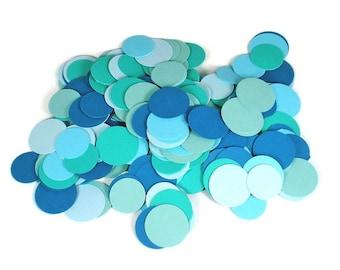 Funfetti Paper Party  Confetti  Dots in Ocean Mix 300 Pieces