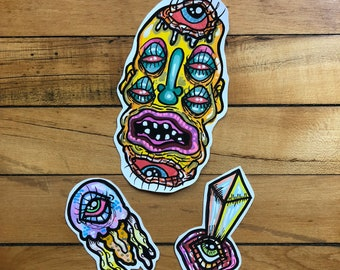 Topsy Turvy || Hand Painted Sticker Pack