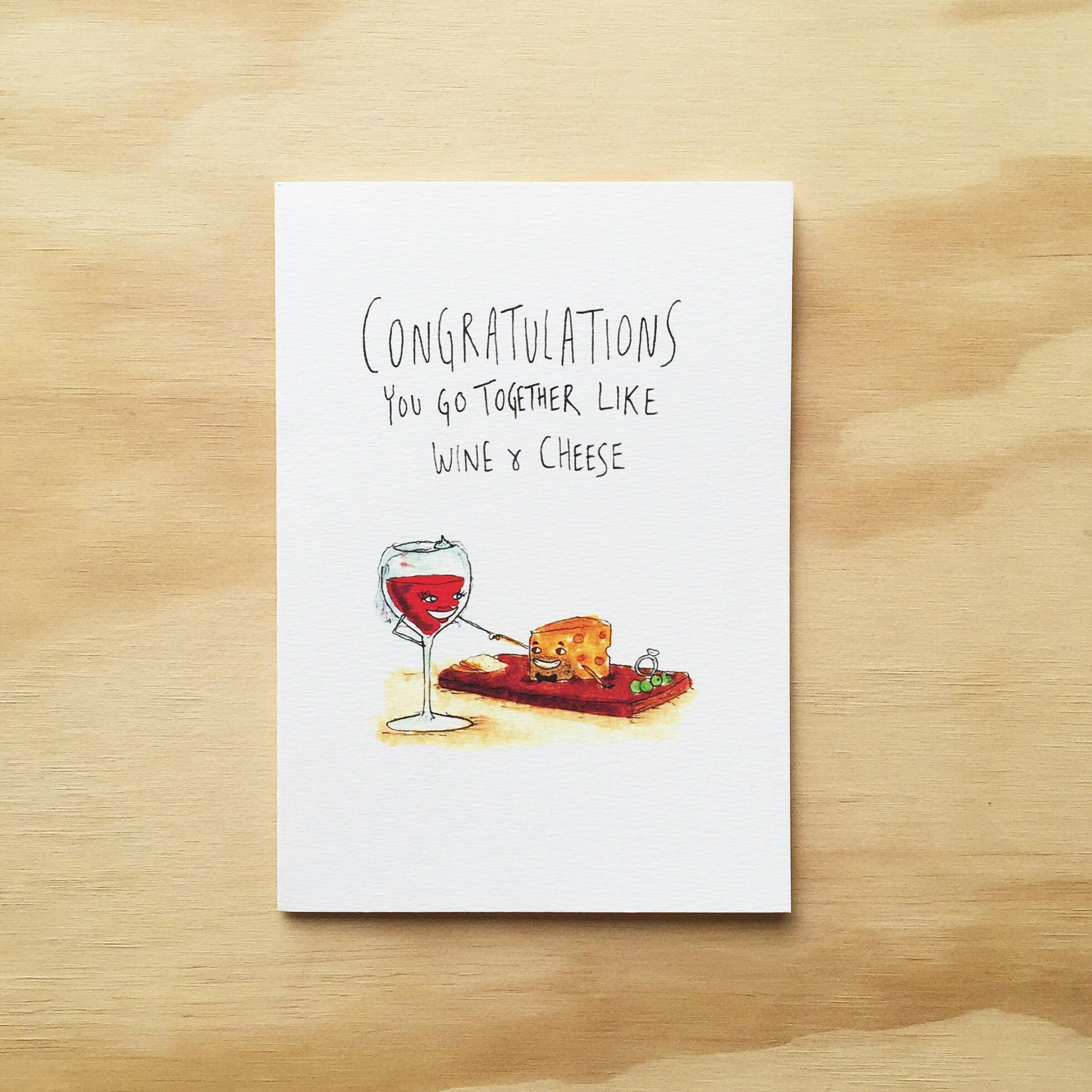Congratulations you go together like wine and cheese zoom kristyandbryce Choice Image
