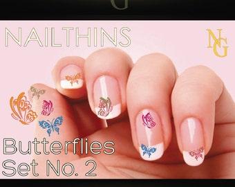 BUTTERFLIES Set No 2 Nail Art nail decal NAILTHINS nail designs butterfly