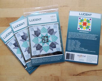 Lucent, a Printed Modern Quilt Pattern by Quilting Jetgirl