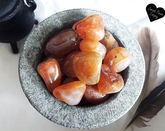 Carnelian Tumbled Crystals   Carnelian Tumbled Stones   Chakra Crystals   Sacral Chakra Crystal   Solar Plexus Chakra Stones