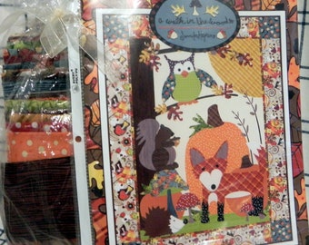 A Walk In The Woods Pattern booklet and fabric
