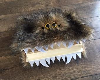 Brown Furry Monster Book Box