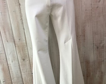 Vintage - 70-80-pants disco - saturday night fever - a crack in the front leg - small - white with white