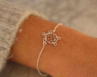 Turtle Bracelet, Tortoise Bracelet, Dainty Bracelet, Bracelet For Women, Animal Bracelet, Turtle Jewelry, Sea Turtle Bracelet, Charm