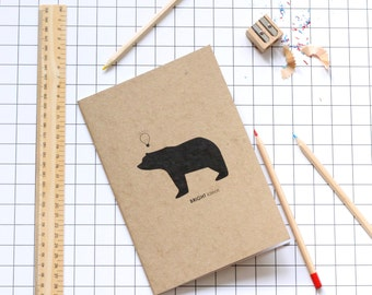 A5 Bright Ideas Bear Notebooks