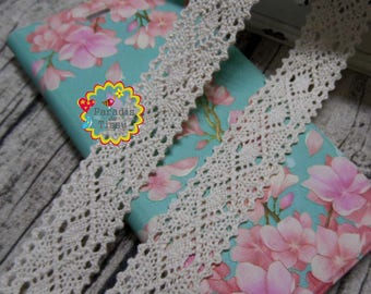 x 5 m Ribbon lace 2.5 cm cotton diamond R001