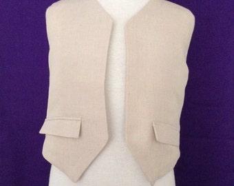 Boys Linen Vest Size 4