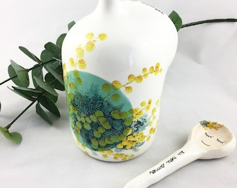 Salt Pot - Ceramic Salt Cellar - Salt Cellar - Salt Pig - Ceramics and Pottery - Salt Bowl - ceramics and pottery