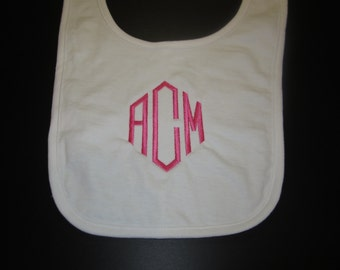Monogrammed Bib - Embroidered