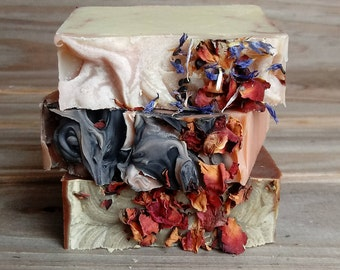 Soap Gift Set | Self Care Package | Gift of Love | Rose Themed Soap Collection | Chocolate Soap | Rose Soap | Herbal Soap | Artisan Soap