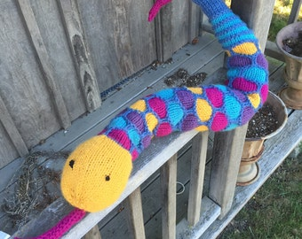 Scaly Knitted Snake