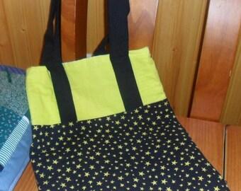 Black and Yellow Beach Bag