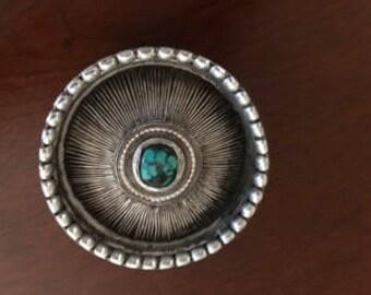 Tibetan Silver Woman's Hair Ornament