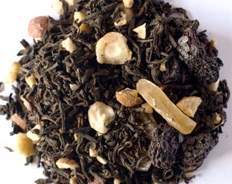 BLACKBERRY CARAMEL Pu-erh Tea (Organic Pu-erh Tea with Caramel, Blackberries, hazelnuts) Sample