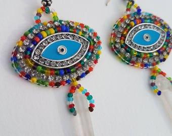 Eye Beaded Earrings