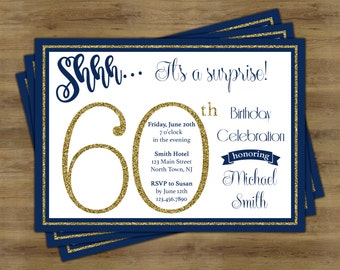 Surprise 80th Birthday Invitation Surprise Birthday