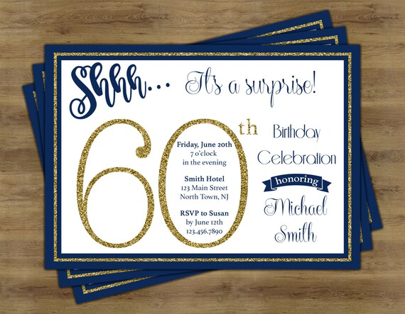 Surprise 60th birthday invitation surprise birthday like this item filmwisefo Gallery
