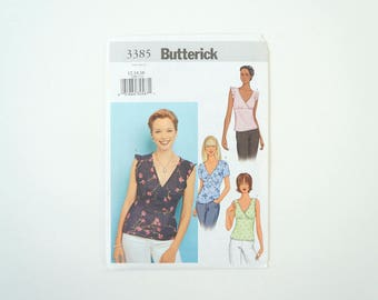 Butterick B3385 Womens Top Paper Sewing Pattern Size 12, 14, 16