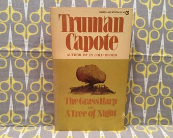 The Grass Harp and A Tree of Night by Truman Capote Paperback Book Vintage