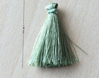 beautiful tassel charm / tassel fringed nylon green vine