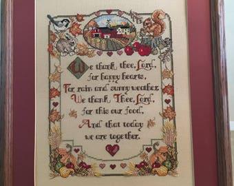 Cross stitched Prayer