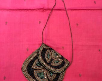 Handmade Embroidered Crossbody Handbag