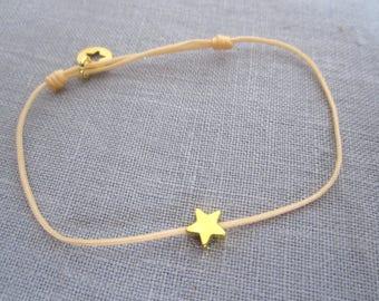 Star Gold cord bracelet