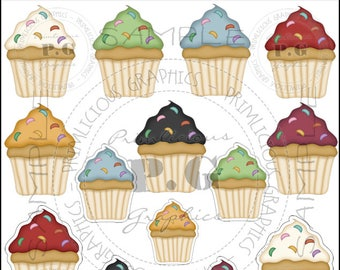 Cupcake ClipArt Collection #5