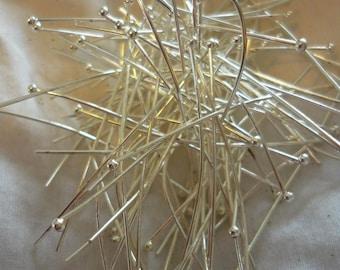 Lot 50 nails 45mm 0.7 mm silver ball head