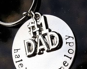 Number One Dad Keychain, Fathers Day Keychain, Father Keychain, Dad Keychain, Gifts for Him, Daddy Keychain, Dad Gift, Father Gift, Stepdad