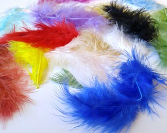 Feathers / 10 Loose Feathers/ 6-10 cm in length/ Colored feathers/ Decorative feathers
