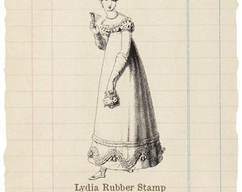 Lydia Unmounted rubber stamp
